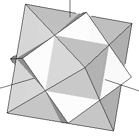 Cube and octahedron rotated